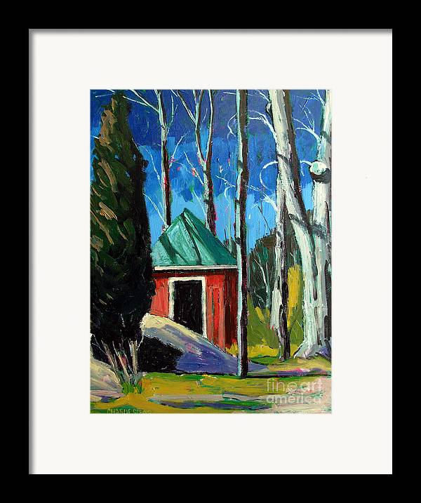 Golf Course Framed Print featuring the painting Golf Shed Series No.12 by Charlie Spear