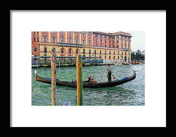 Italy Framed Print featuring the photograph Gondola by Timothy Hacker