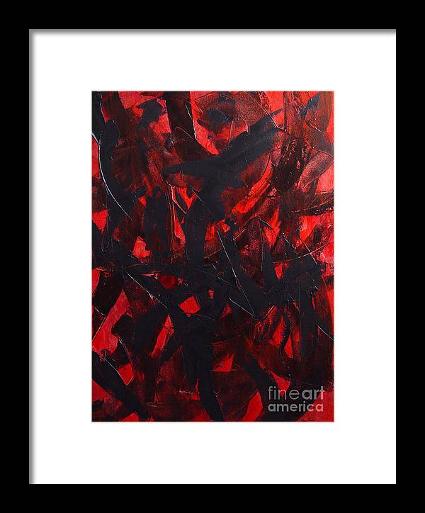 Abstract Framed Print featuring the painting Good Bye by Dean Triolo