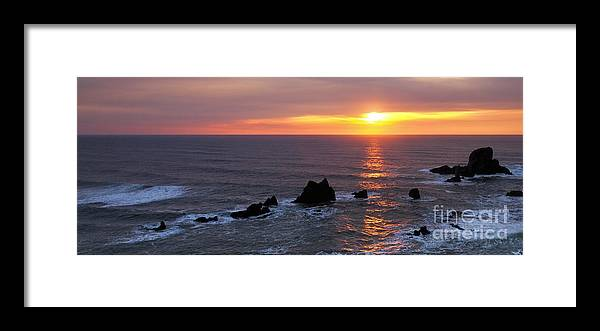 Sunset Framed Print featuring the photograph Good-bye by Beve Brown-Clark Photography
