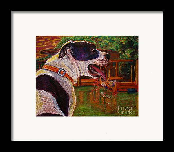 Pitbull Framed Print featuring the painting Good Day On The Boat by D Renee Wilson