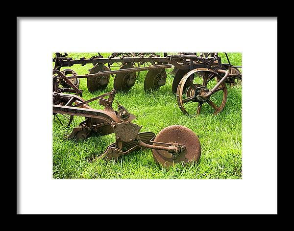 Old Plows Framed Print featuring the photograph Good Enough To Still Use by Paul W Faust - Impressions of Light