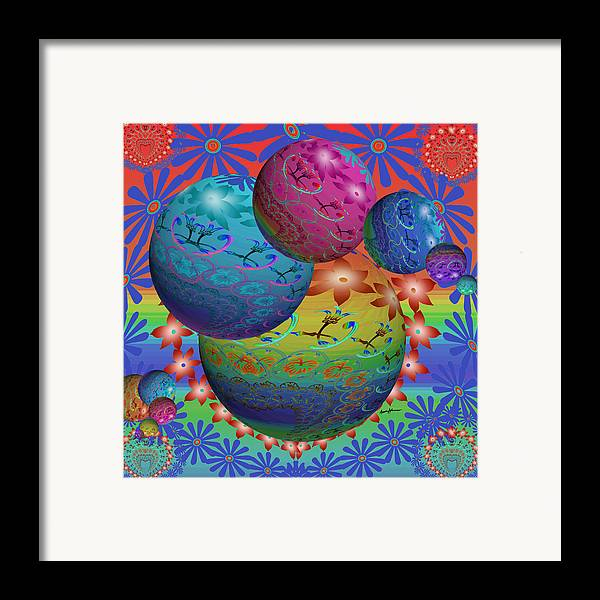 Abstract Framed Print featuring the digital art Good Mojo by Anthony Caruso