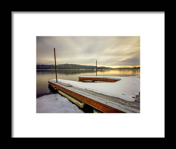 Pier Framed Print featuring the photograph Good Morning Big Bear Lake by Robert Aycock