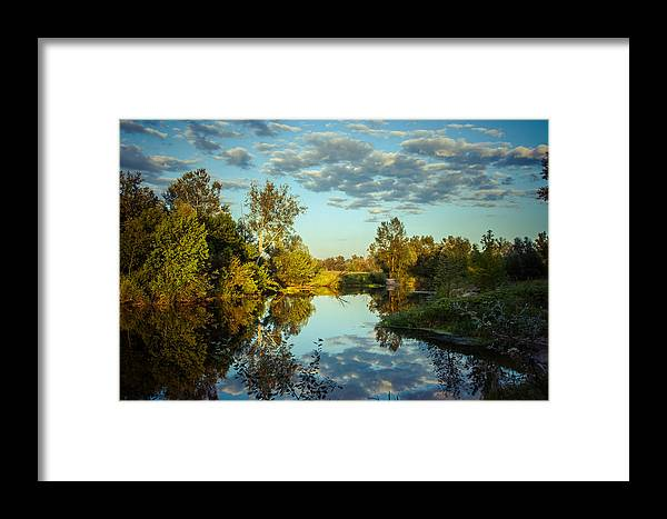Landscape Framed Print featuring the photograph Goodbye Sunny Day by Dmytro Korol