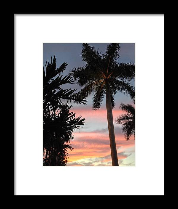 Pastel Sky Framed Print featuring the photograph Goodnight Waterside by K Simmons Luna