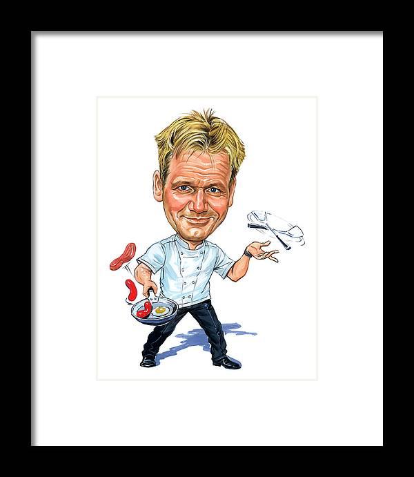 Gordon Ramsay Framed Print featuring the painting Gordon Ramsay by Art