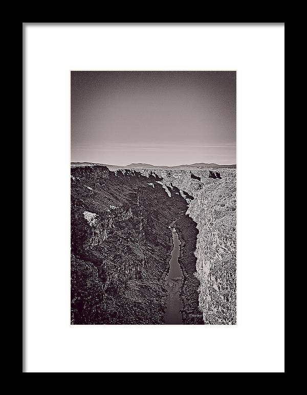 Rio Framed Print featuring the mixed media Gorge by Charles Muhle