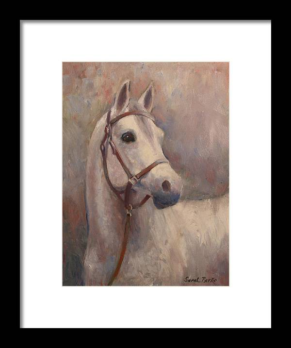 Painting Framed Print featuring the painting Gorgeous Girl by Sarah Parks