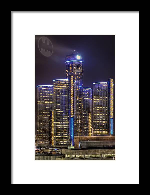 Gotham Framed Print featuring the photograph Gotham Detroit by Nicholas Grunas