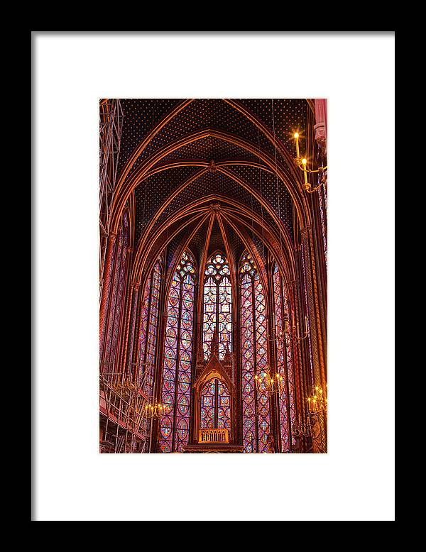 Gothic Style Framed Print featuring the photograph Gothic Architecture Inside Sainte by Julian Elliott Photography