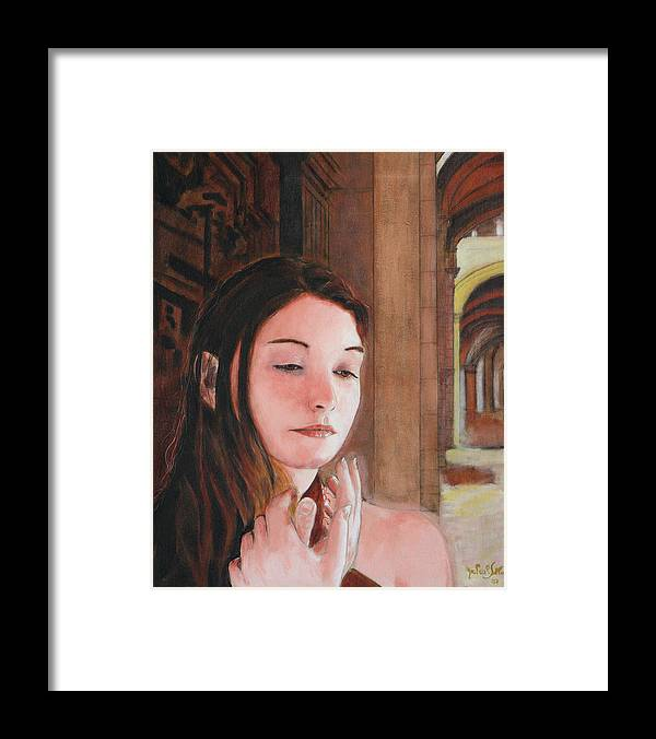 Gothic Souk Framed Print featuring the painting Gothic Souk by Jean-Paul Setlak