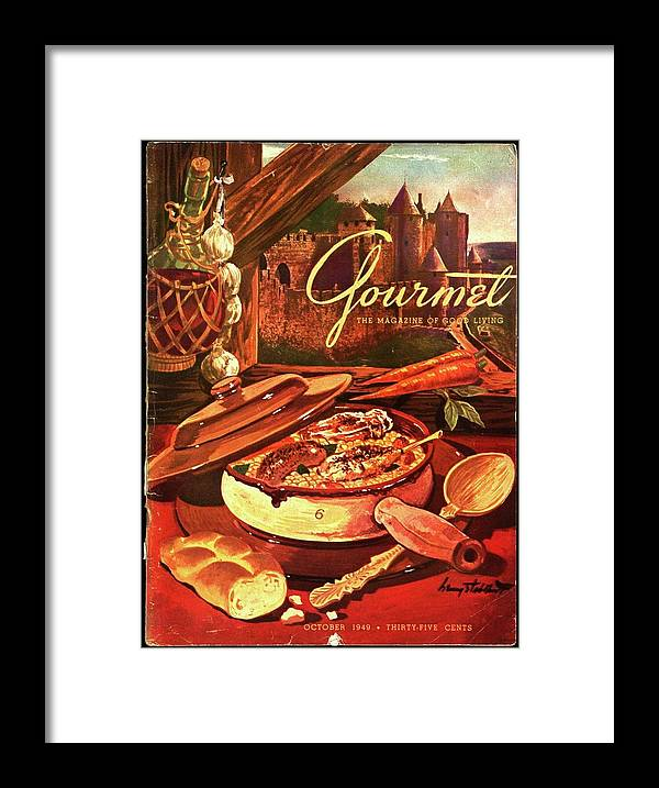 Illustration Framed Print featuring the photograph Gourmet Cover Featuring A Pot Of Stew by Henry Stahlhut