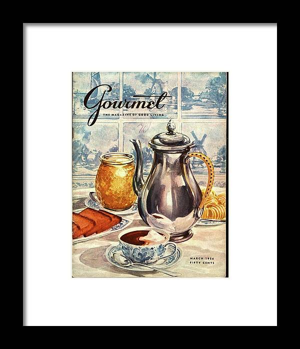 Illustration Framed Print featuring the photograph Gourmet Cover Featuring An Illustration by Hilary Knight