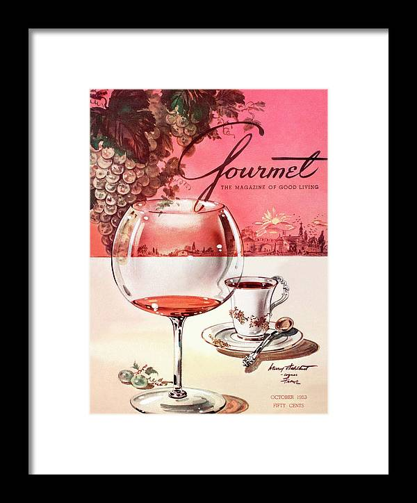 Travel Framed Print featuring the photograph Gourmet Cover Illustration Of A Baccarat Balloon by Henry Stahlhut