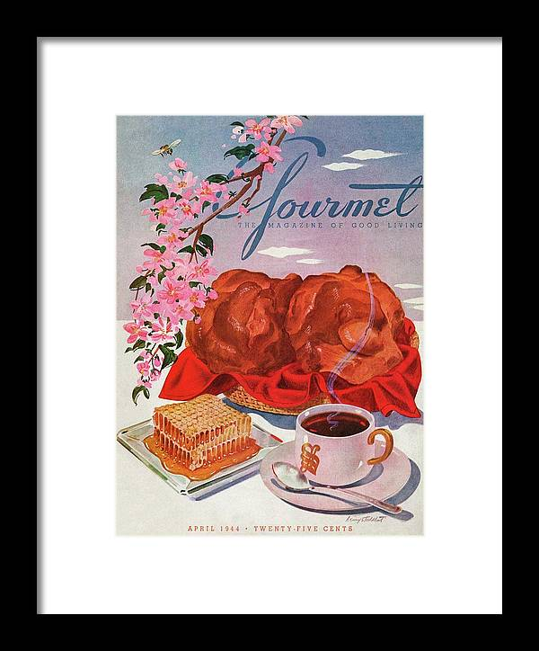 Food Framed Print featuring the photograph Gourmet Cover Illustration Of A Basket Of Popovers by Henry Stahlhut