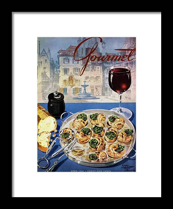 Food Framed Print featuring the photograph Gourmet Cover Illustration Of A Platter by Henry Stahlhut
