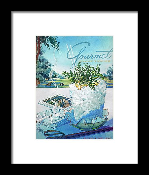 Food Framed Print featuring the photograph Gourmet Cover Illustration Of Mint Julep Packed by Henry Stahlhut