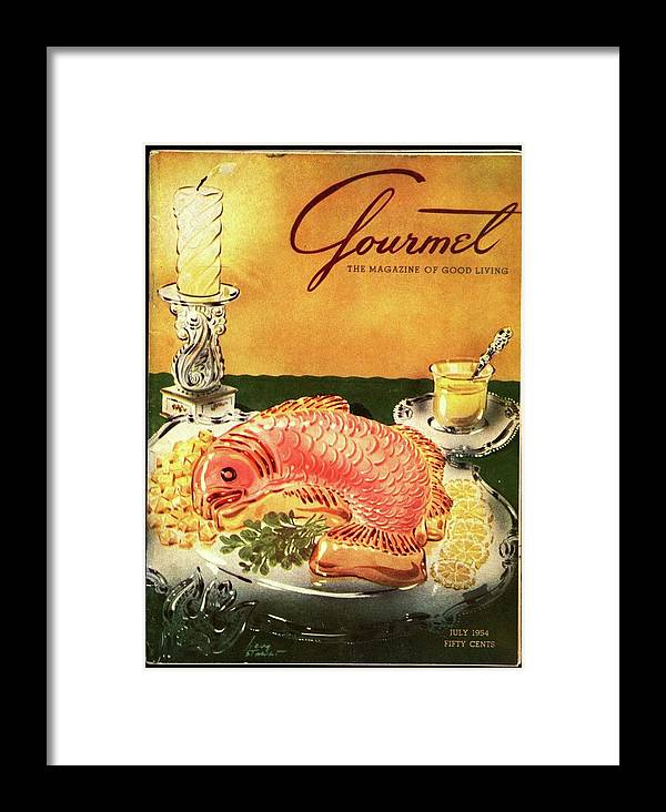 Food Framed Print featuring the photograph Gourmet Cover Illustration Of Salmon Mousse by Henry Stahlhut