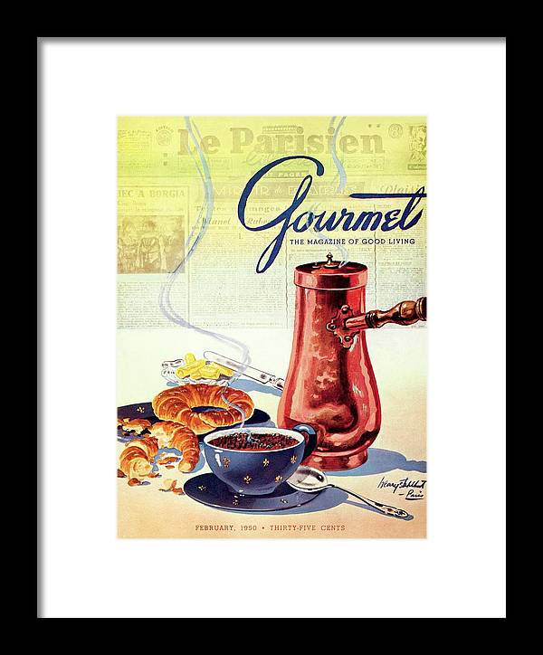 Food Framed Print featuring the photograph Gourmet Cover Of A French Breakfast by Henry Stahlhut