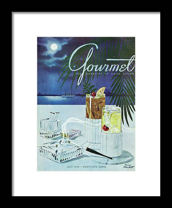 Boat Framed Print featuring the photograph Gourmet Cover Of Cocktails by Henry Stahlhut