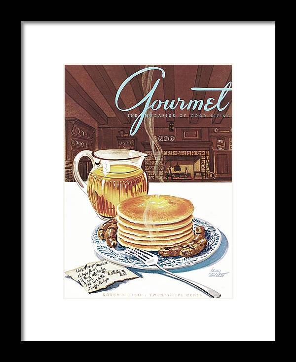 Food Framed Print featuring the photograph Gourmet Cover Of Pancakes by Henry Stahlhut