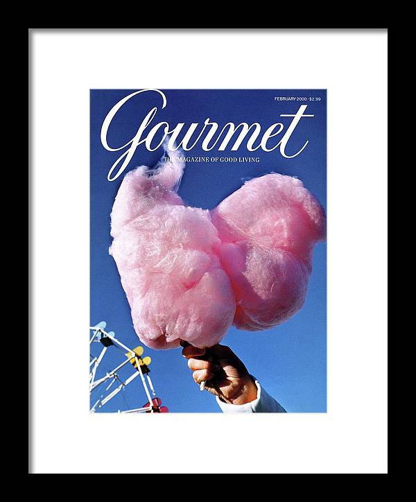 Entertainment Framed Print featuring the photograph Gourmet Magazine Cover Featuring Hand Holding by Kristine Larsen