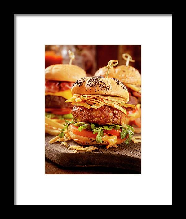 Stout Framed Print featuring the photograph Gourmet Sliders by Lauripatterson