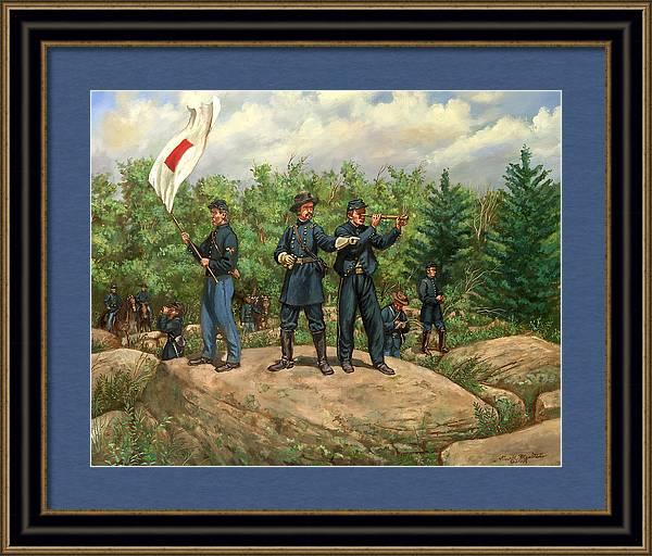 Gouverneur K. Warren - Little Round Top - Battle of Gettysburg by Mark Maritato