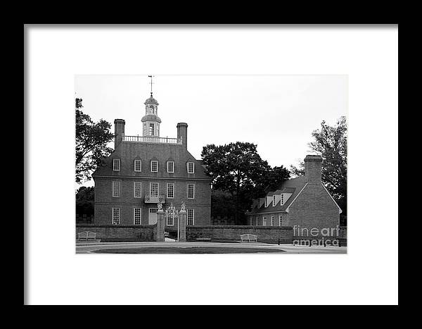Governers Palace Framed Print featuring the photograph Governers Palace Colonial Williamsburg by Christiane Schulze Art And Photography