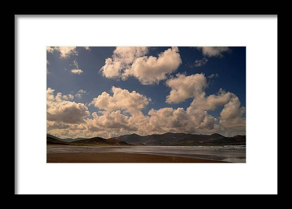 Clouds Framed Print featuring the photograph Gowlane Beach by Barbara Walsh