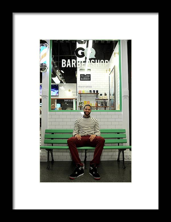Opening Ceremony Framed Print featuring the photograph Gq Barber Shop Grand Opening With by Dimitrios Kambouris