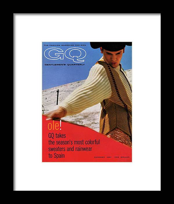 Fashion Framed Print featuring the photograph Gq Cover Of Spanish Matador by Chadwick Hall