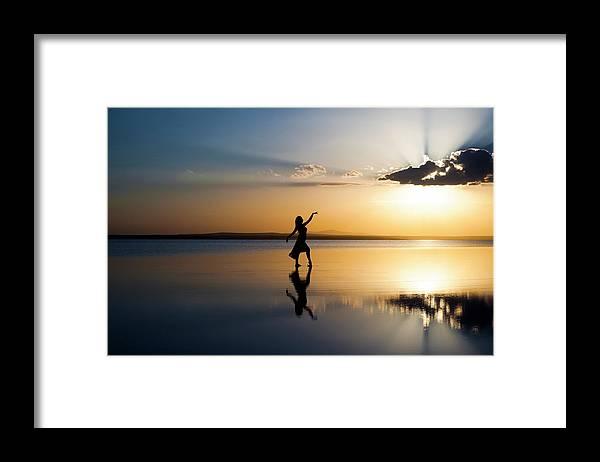 Ballet Dancer Framed Print featuring the photograph Grace At Sunset by Guvendemir