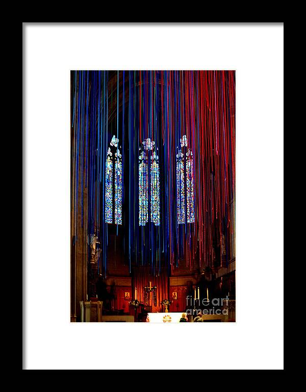 Grace Cathedral Framed Print featuring the photograph Grace Cathedral With Ribbons by Dean Ferreira