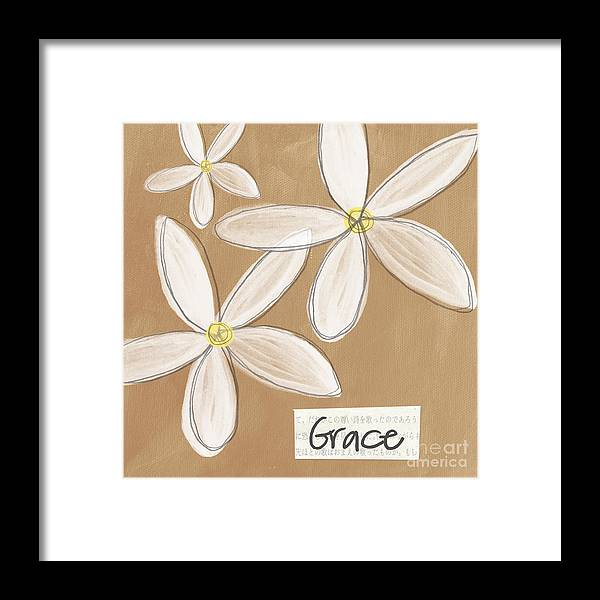Grace Framed Print featuring the mixed media Grace by Linda Woods