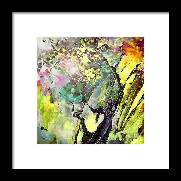 Fantasy Framed Print featuring the painting Grace Under Pressure by Miki De Goodaboom
