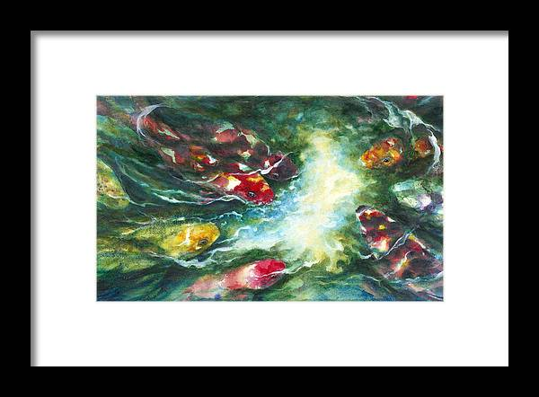 Watercolor Framed Print featuring the painting Graceful Guardians by Connie Ely McClure