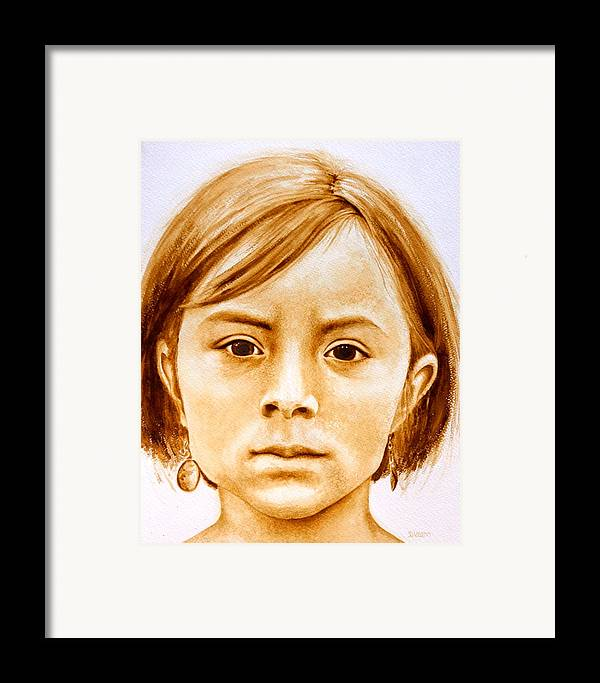 Face Framed Print featuring the painting Gracie by Julee Nicklaus