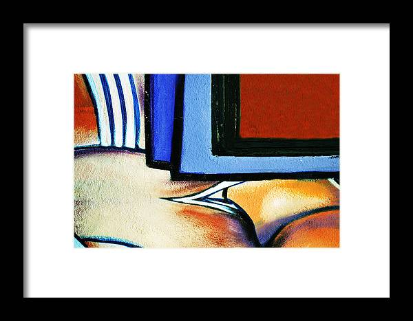 Graffitri Framed Print featuring the photograph Graffiti Abstract by Pamela Patch