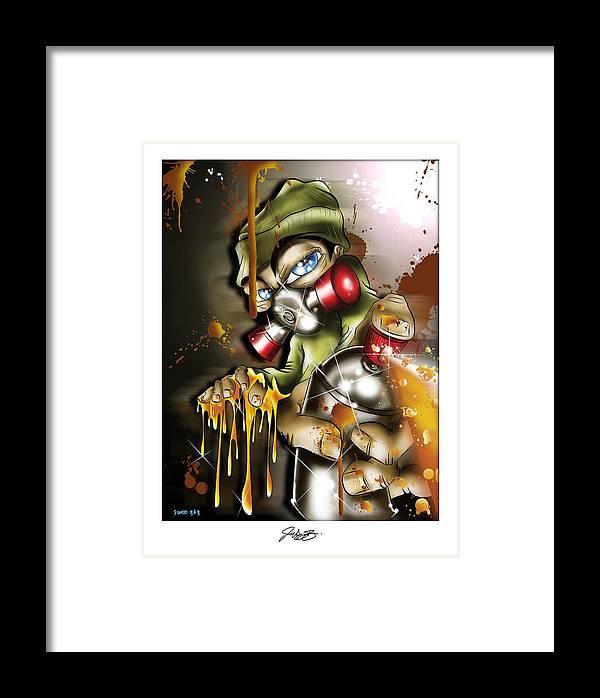 Graffiti Framed Print featuring the digital art Graffiti Is An Addiction by John Webb