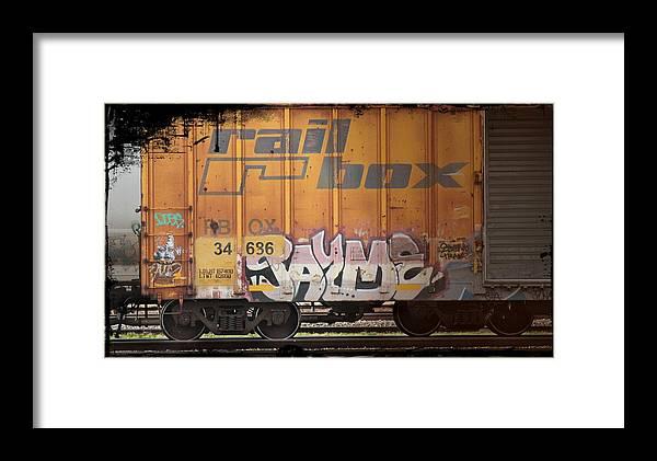 Graffiti Framed Print featuring the photograph Graffiti - Jayme Doll by Graffiti Girl