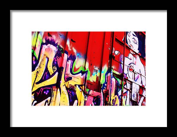 Graffiti Framed Print featuring the photograph Graffiti by Nicole Doering