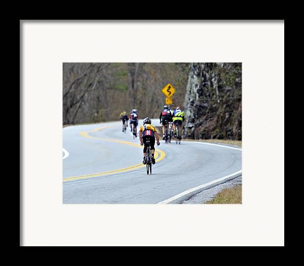 Sport Framed Print featuring the photograph Gran Fondo Bike Ride by Susan Leggett