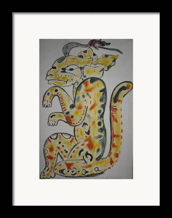 Mayan Framed Print featuring the painting Gran Jaguar by Juan Francisco Zeledon