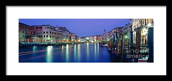Rialto Bridge Framed Print featuring the photograph Grand Canal by Rod McLean