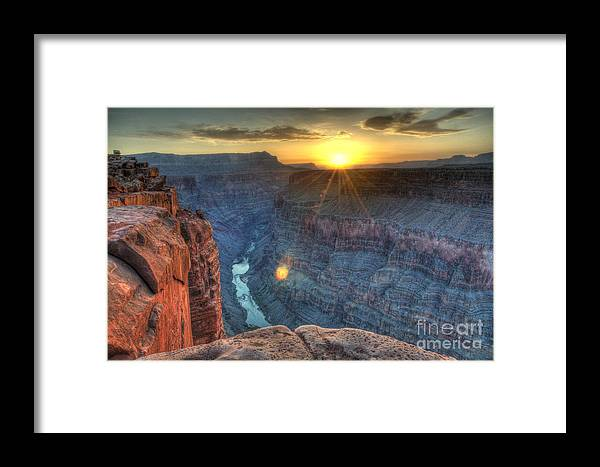 Grand Canyon Framed Print featuring the photograph Grand Canyon First Light by Bob Christopher
