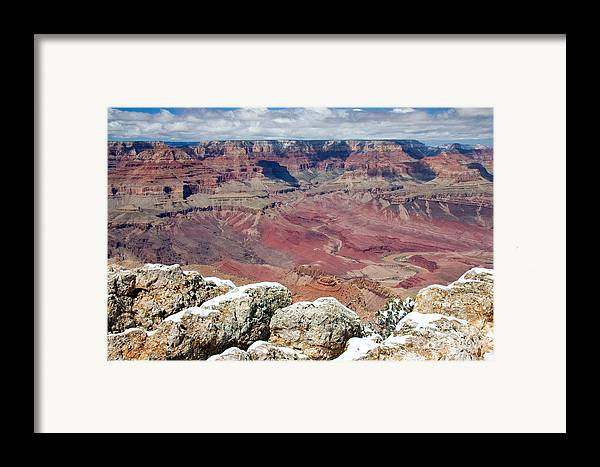 Landscape Framed Print featuring the photograph Grand Canyon In Arizona by Julia Hiebaum