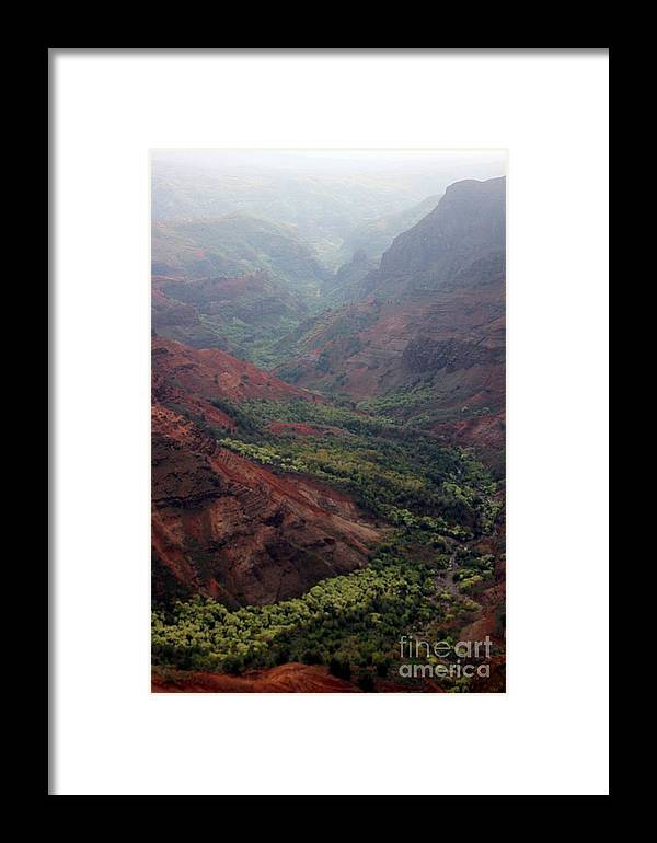 Waimea Canyon Framed Print featuring the photograph Grand Canyon Of The Pacific by Elizabeth Winter