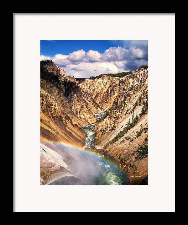 Yellowstone Framed Print featuring the photograph Grand Canyon Of Yellowstone 1 by Thomas Woolworth